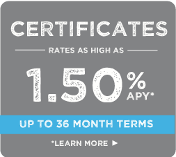 certificates, rates as low as 1.50%, up to 36 month terms