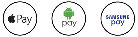 Mobile wallet icon, apple pay, android pay, samsung pay